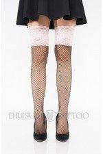 Ciorapi ¾  model plasa si banda cu siret reglabil