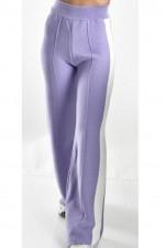 Pantaloni dama evazati din tricot mov