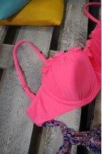 Costum de baie 2 piese Roz cu Slip Multicolor