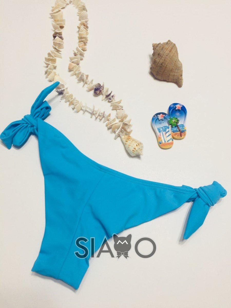 Slip brazilian albastru reglabil in parti