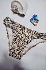 Costum de baie 2 piese Imprimeu Leopard + SLIP brazilian CADOU