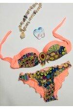 Costum de baie 2 piese Imprimeu Multicolor
