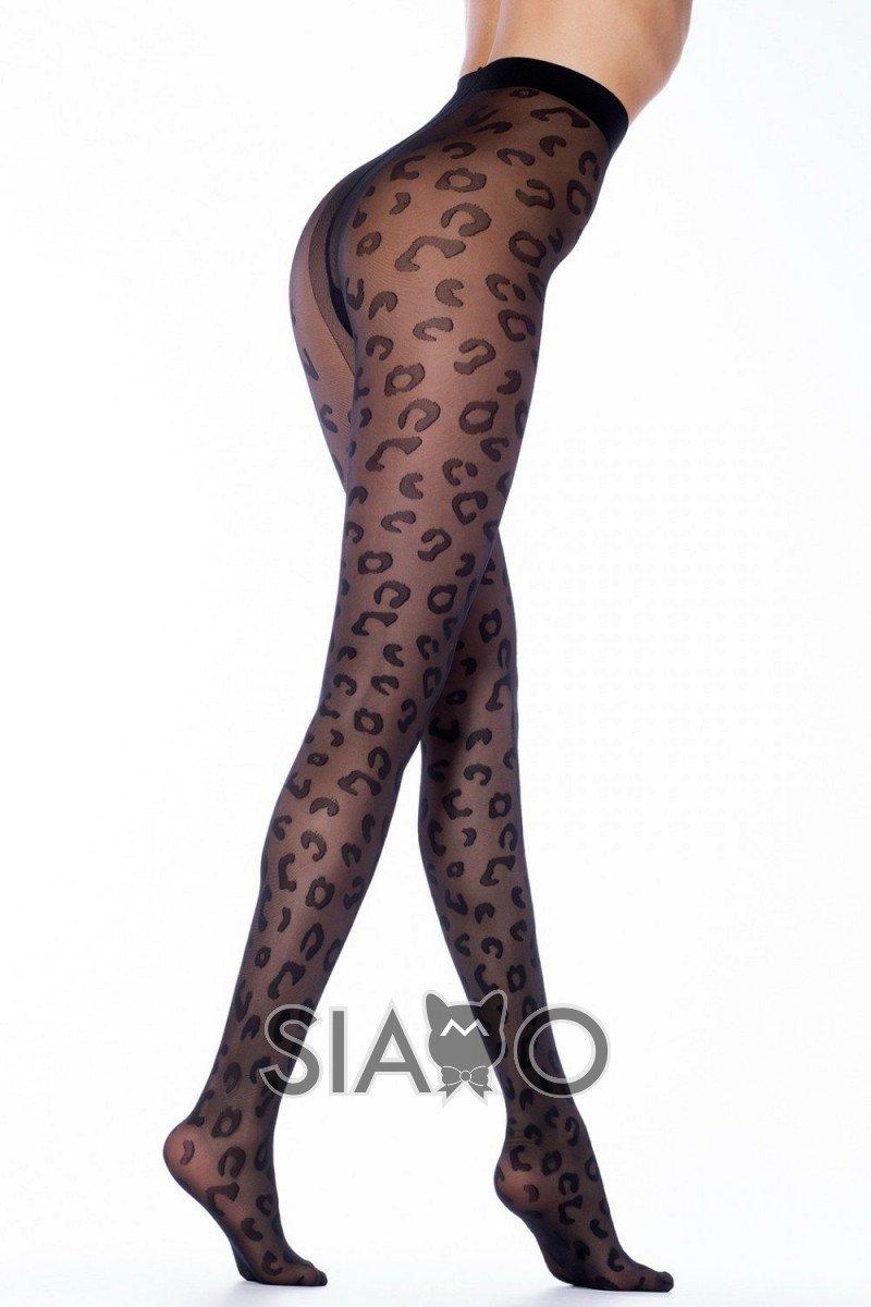 Dres negru model leopard
