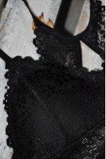 Sutien negru tip bustiera model Ioana