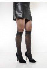 Dres model imitatie sosete lungi pana la genunchi cu sclipici