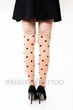 Ciorapi ¾ cu banda adeziva model cu buline