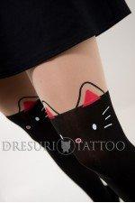 Dres tattoo model pisicuta cu urechi roz si fundita la spate